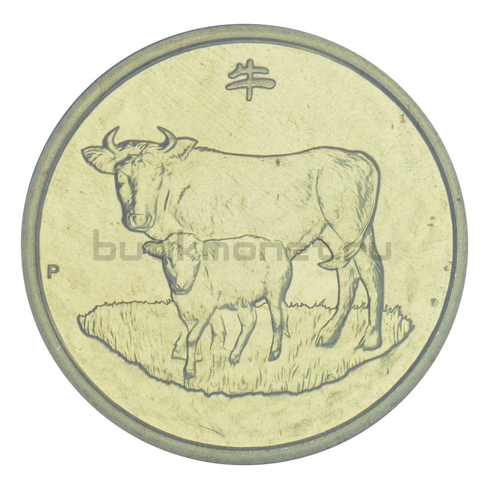 1 доллар 2009 Австралия Год Быка (Восточный календарь)