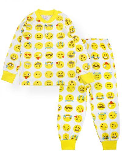 """Пижама для мальчиков 2-6 лет """"Эмоджи"""" желтый"""