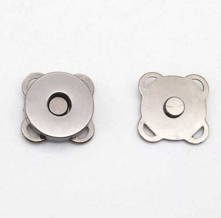 Магнитная кнопка пришивная 18 мм серебро