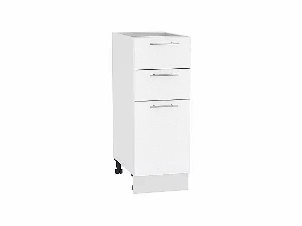 Шкаф нижний Валерия Н303 (белый металлик)