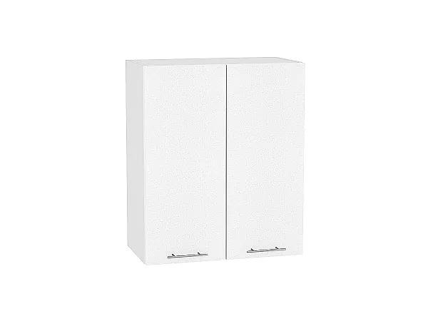 Шкаф верхний Валерия В609 (белый металлик)