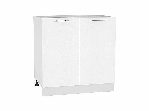 Шкаф нижний Валерия Н800 (белый металлик)