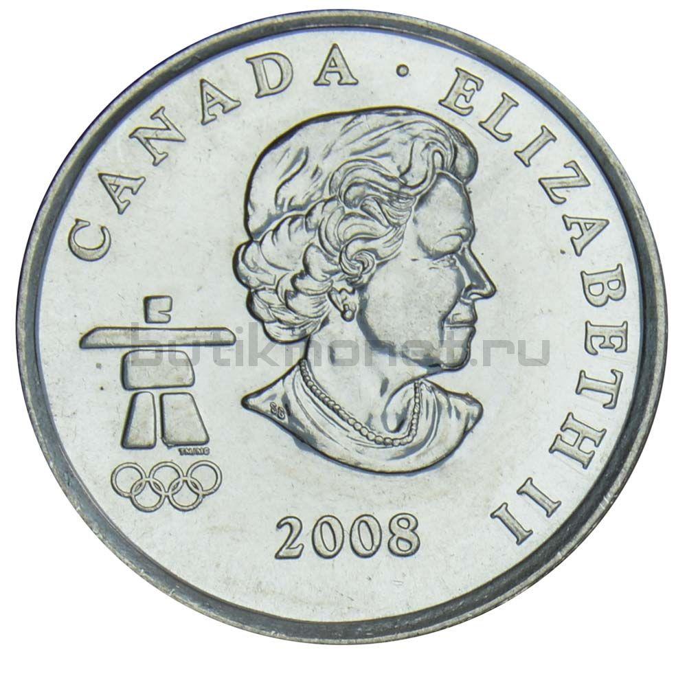 25 центов 2008 Канада Фигурное катание (Олимпийские игры в Ванкувере)
