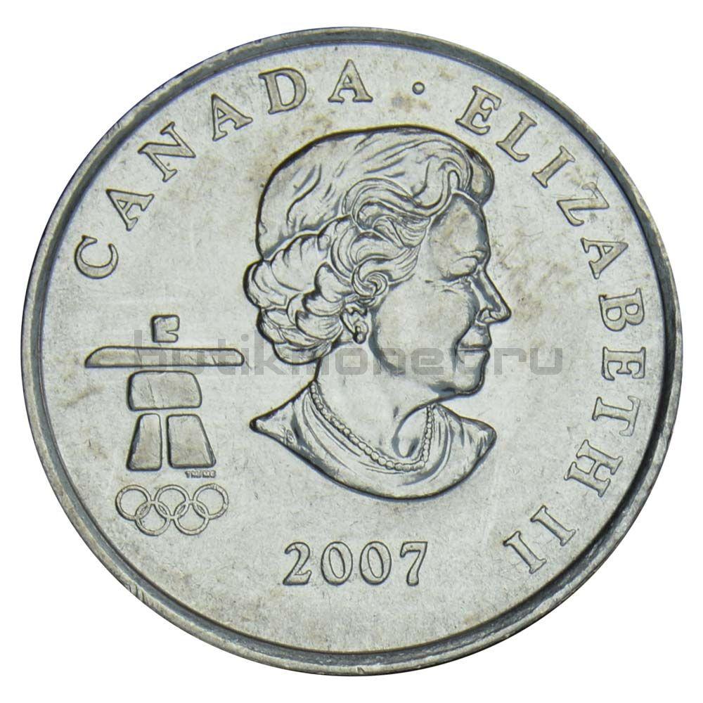 25 центов 2007 Канада Горные лыжи (Олимпийские игры в Ванкувере)