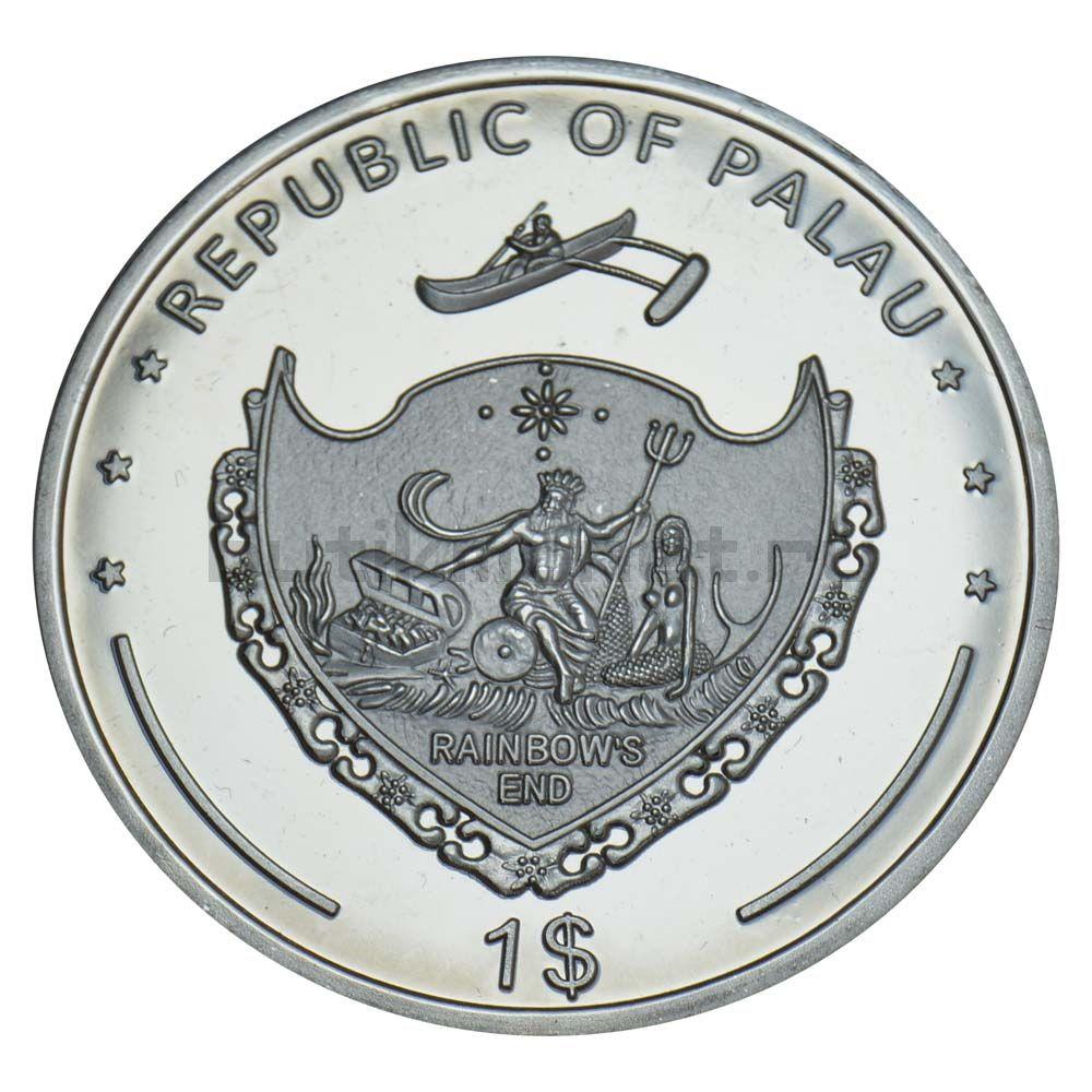 1 доллар 2011 Палау Мелированный пестряк (Вымирающие виды)