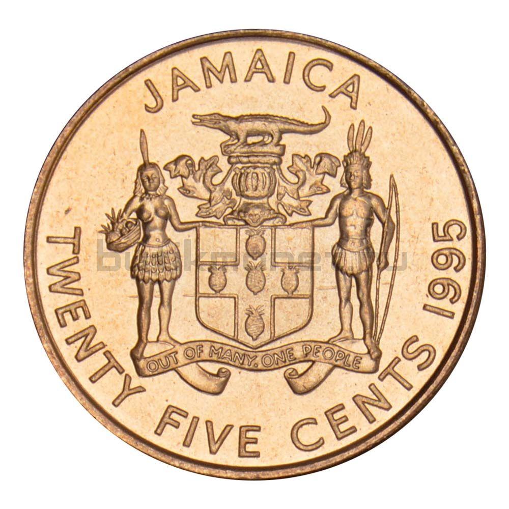 25 центов 1995 Ямайка