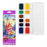 Акварель 12 цветов Луч Фантазия медовая без кисти картонная коробка 25С 1526-08