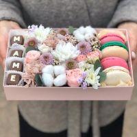 """Коробочка с шоколадными буквами """"Маме"""" №6"""