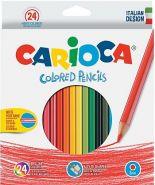 Карандаши 24 цвета Carioca (40381) + точилка