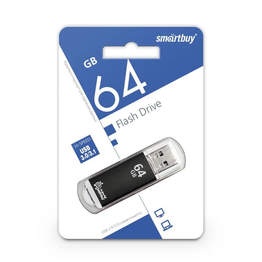 USB накопитель 3.0 Smartbuy 64GB V-Cut Black