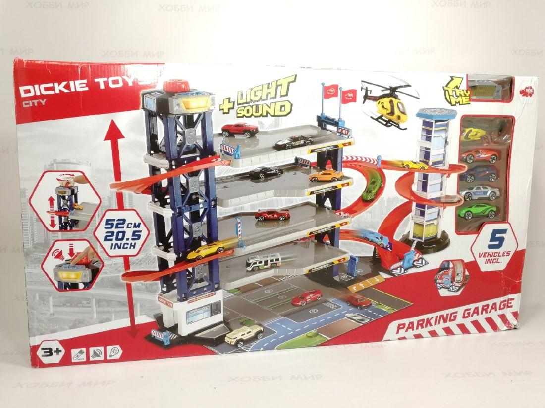 Парковка гараж Dickie toys City 4 этажа со светом и звуком 3749008
