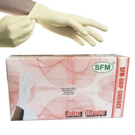 Перчатки смотровые, латексные, неопудренные SFM, Германия, 50 пар