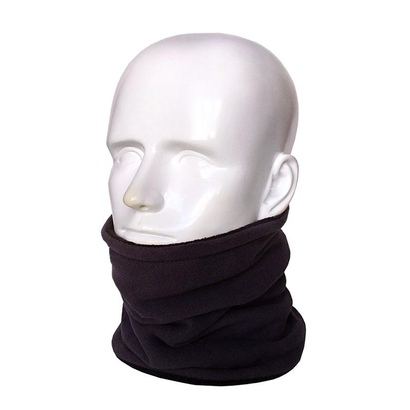 Шапка-шарф с бортиком, коричневая