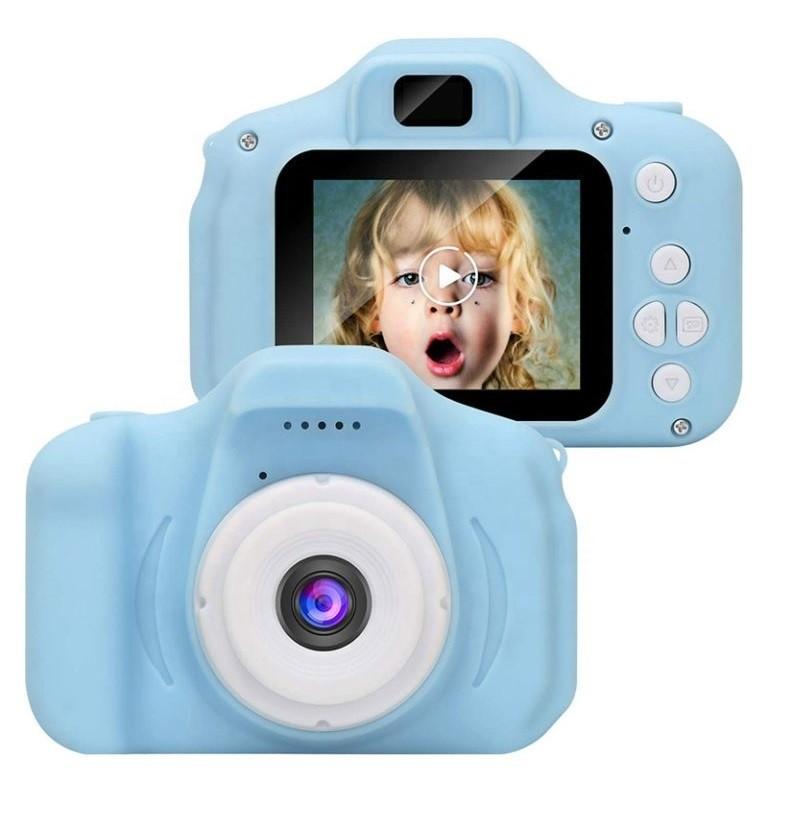 Детский цифровой мини фотоаппарат, Цвет Голубой