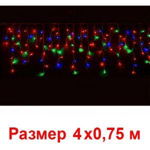 Гирлянда Нити (190 красно-синих-зеленых мерцающих светодиодов)