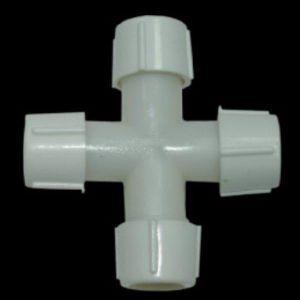 Коннектор крестовой для LED шнура 13мм, IP44
