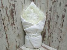 Комплект на выписку 5 предметов, капитон с мехом, цвет белый 02174-3
