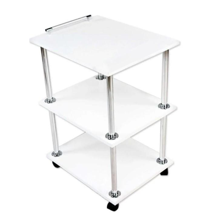 Косметологический столик, белый 57x34x73 см
