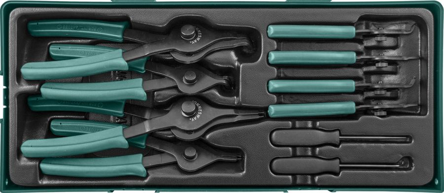 AG010150SP Набор щипцов для стопорных колец 10 предметов (ложемент)