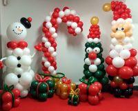 Новогоднее оформление воздушными шарами комплект