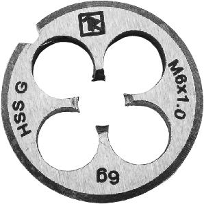MD10125 Плашка D-COMBO круглая ручная М10х1.25, HSS, Ф30х11 мм