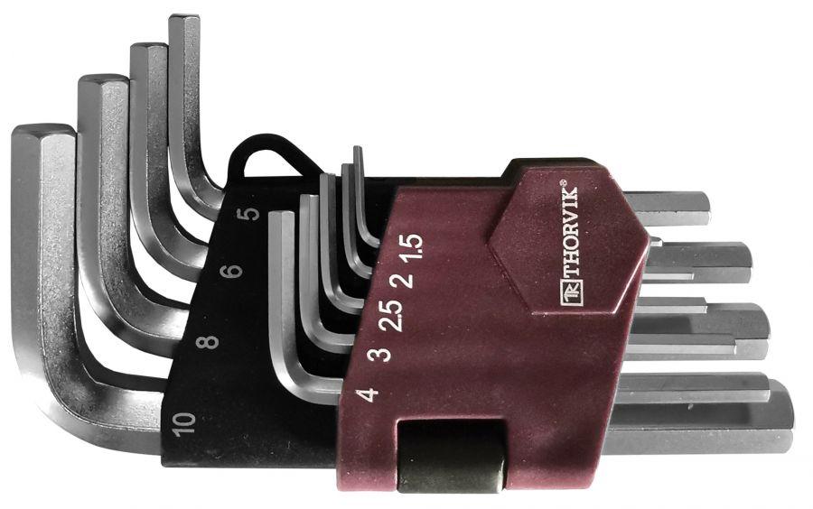 HKS9S Набор ключей торцевых шестигранных коротких, H1.5-H10, 9 предметов
