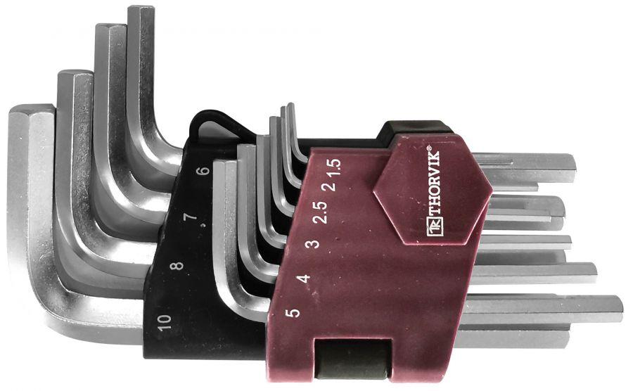 HKS10S Набор ключей торцевых шестигранных коротких, H1.5-H10, 10 предметов