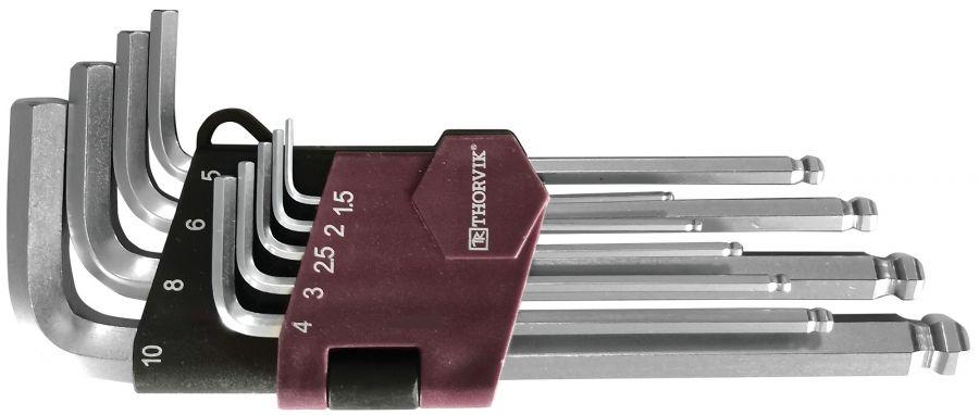 HKB9S Набор ключей торцевых шестигранных с шаром, H1.5-H10, 9 предметов