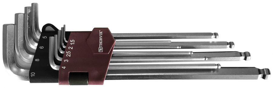 HKLB9S Набор ключей торцевых шестигранных удлиненных с шаром, H1.5-H10, 9 предметов