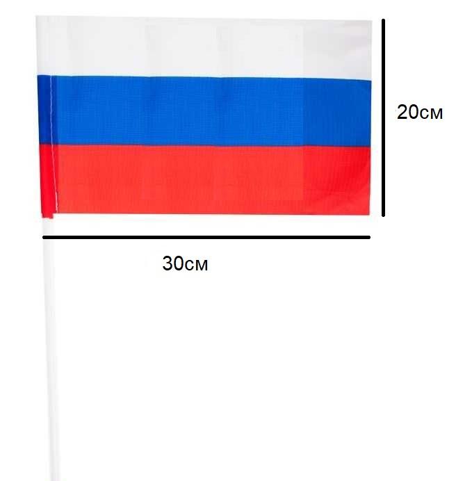 Флажок Россия 20х30см.