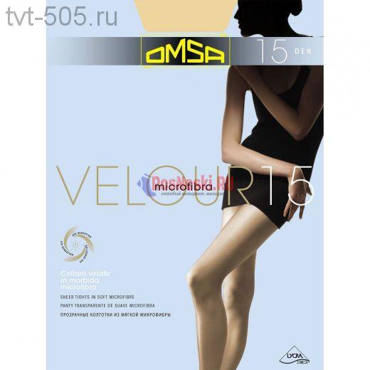 Колготки OMSA Velour 15d прозрачные арт.204