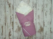 МАМИН МАЛЫШ - Комплект на выписку пурпурный с мехом, корона 5-KM004-ME / 02173