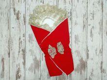 МАМИН МАЛЫШ - Комплект на выписку барби красный с мехом 5-KM004-BB / 02173-8
