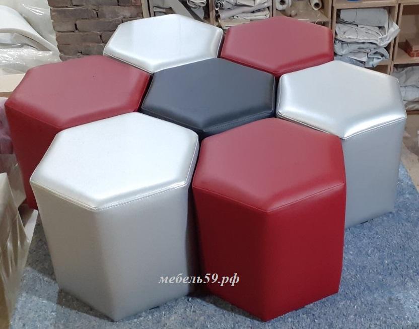 Модульный шестиугольный пуф Сота