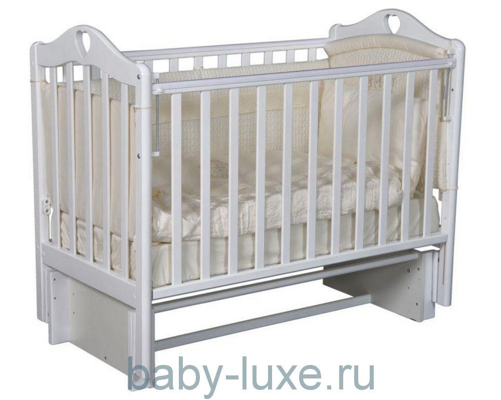 Кроватка детская Karolina-3/5 маятник/без ящика