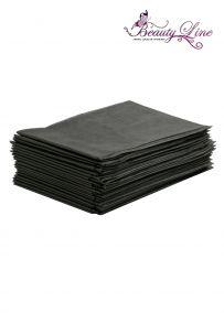 Простыни одноразовые - 80/200, плотность - 17; --- 20 штук, чёрные