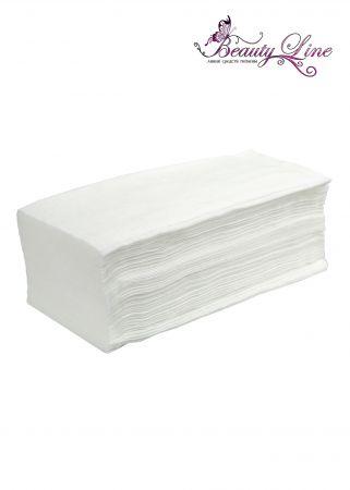 Салфетки одноразовые белые  Размер -  20/30, Плотность - 50; --- 100 штук