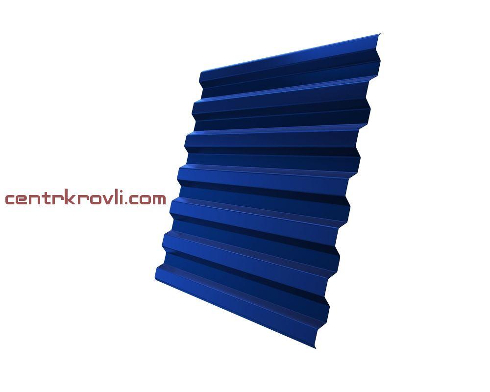 Профнастил С21R 0,5 Satin RAL 5005 сигнальный синий