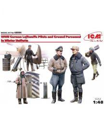 Пилоты и техники ВВС Германии  (зимний вариант) 2МВ,  фигуры