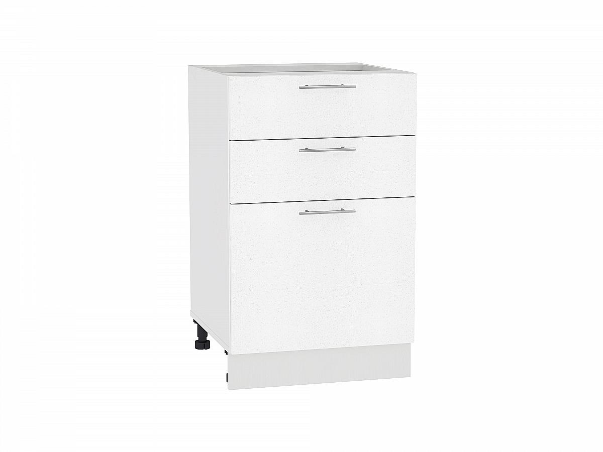 Шкаф нижний Валерия Н503 (белый металлик)