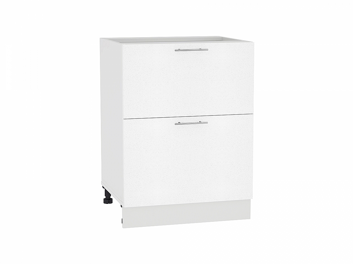 Шкаф нижний Валерия Н602 (белый металлик)