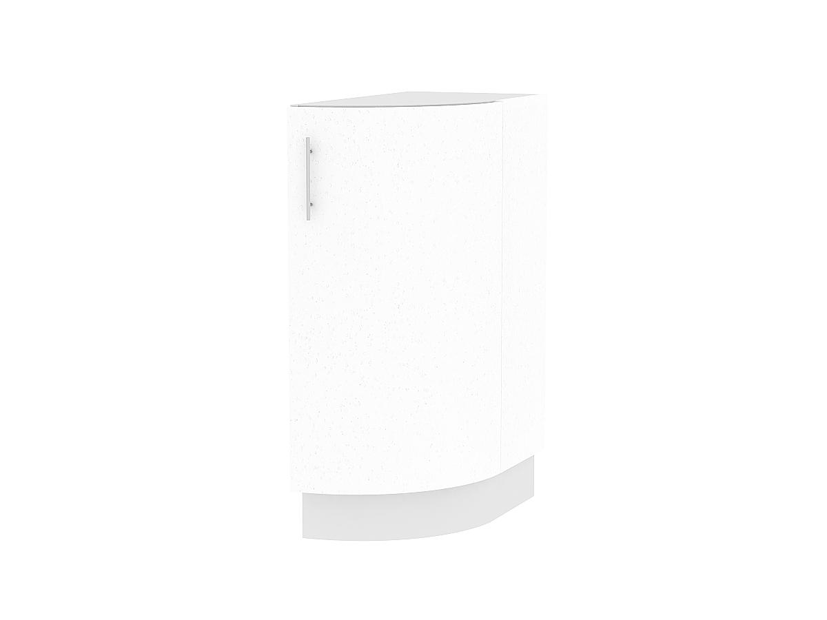 Шкаф нижний торцевой Валерия НТ300S (белый металлик)