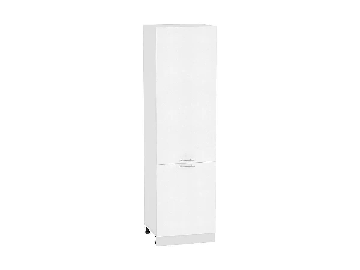Шкаф пенал с 2-мя дверцами Валерия ШП600Н (белый металлик)