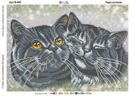 Фея Вышивки В-483 Пара Котиков схема для вышивки бисером купить оптом в магазине Золотая Игла