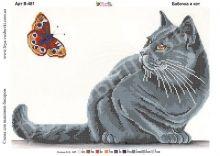 В-481 Фея Вышивки. Бабочка и Кот. А3 (набор 1025 рублей)