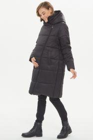 Пальто для беременных и слингоношения 3 в 1 черное