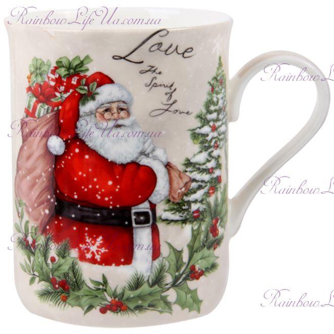 """Чашка новогодняя 350 мл """"Санта"""""""