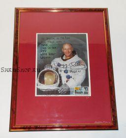 Автограф: Эдвин Юджин «Базз» Олдрин. «Аполлон-11». Фото 1969 года. Редкость