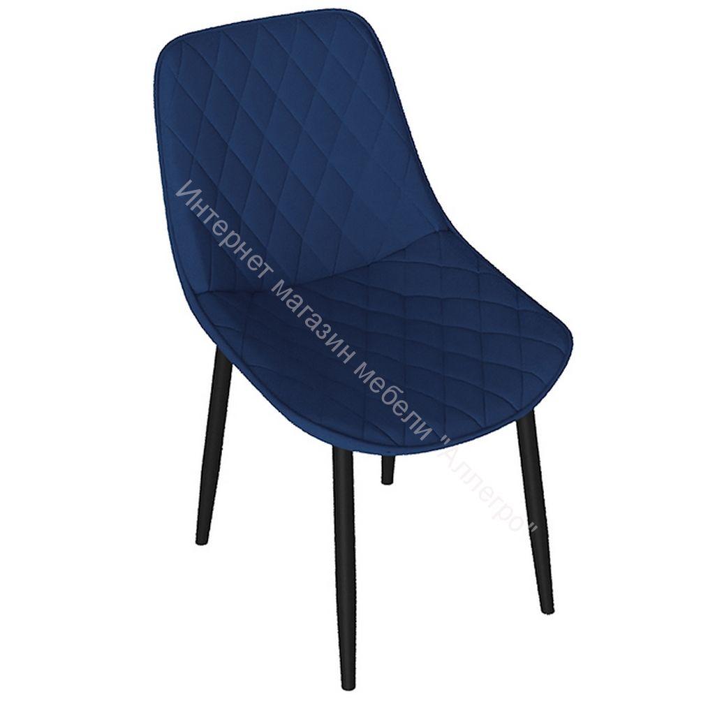 Стул «OSCAR» (Черный муар/Велюр L005 синий)
