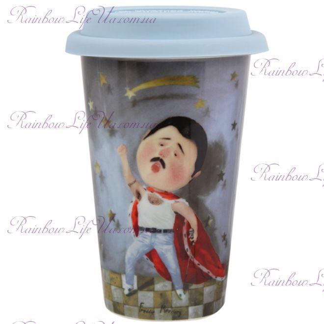 """Чашка с силиконовой крышкой 400 мл Фреди """"Famous"""""""